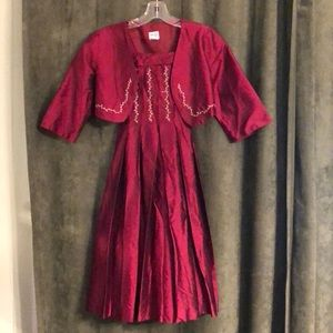 Luli red Christmas dress